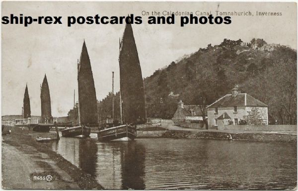 Tomnahurich, Caledonian Canal, postcard (a)